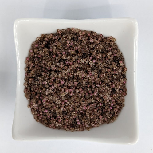 Seed Beads - #11 - Pink Lined Brown - 50g