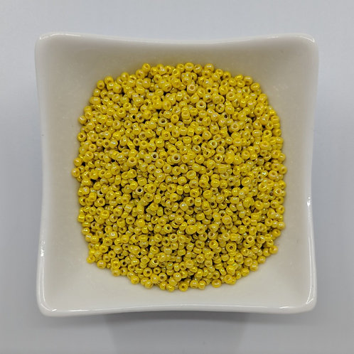 Seed Beads - #11 - Opaque Yellow with Lustre Finish - 50g