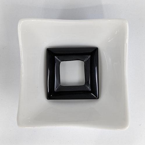 Black Agate - Square Donut - 40mm