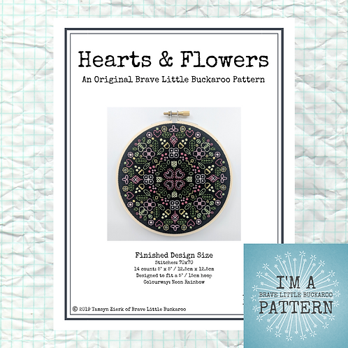 Hearts and Flowers - Spring Garden Colourway - DIY PDF Pattern