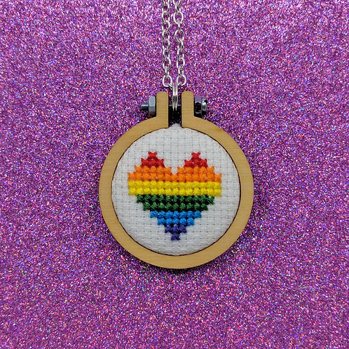 Pride Heart Flag Necklace - Gay Pride