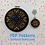Thumbnail: Hearts & Flowers Hoop + Mini - Neon Rainbow Colourway - DIY Pattern
