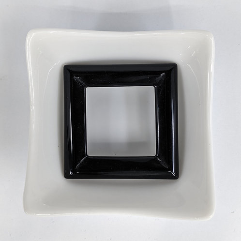 Black Agate - Square Donut - 50mm