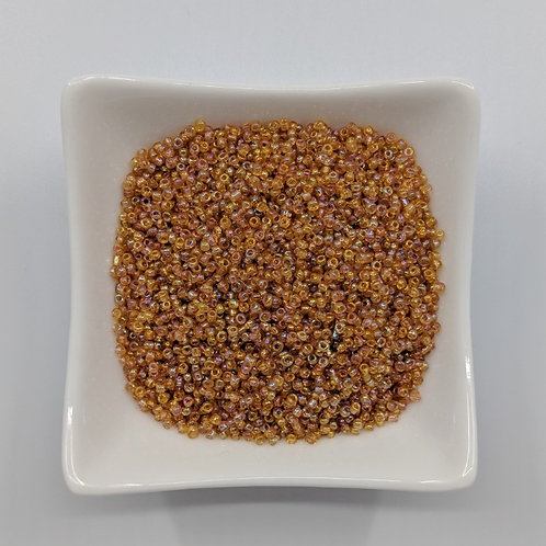 Seed Beads - #11 - Transparent Peach with Lustre Finish - 50g