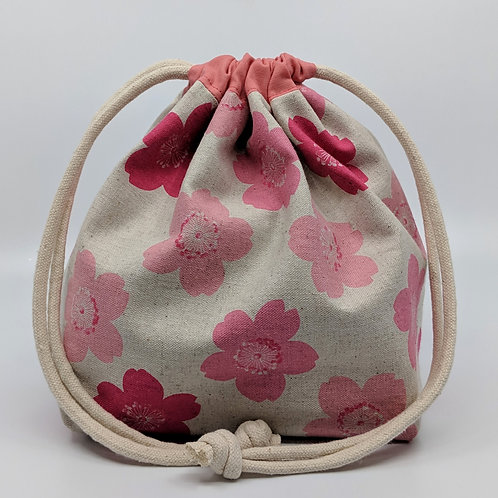 Classic Drawstring Pouch - Cherry Blossoms