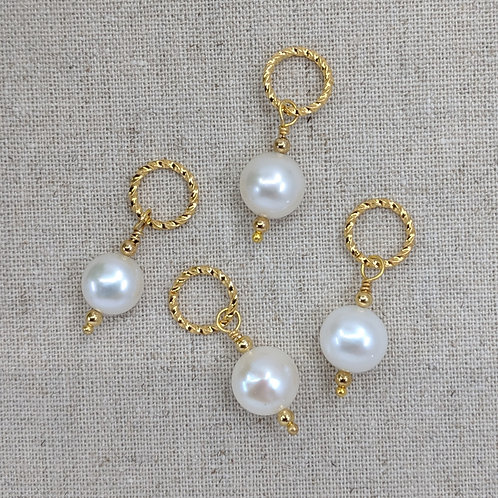 Stitch Markers -Freshwater Pearls