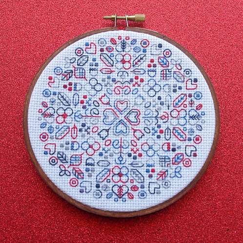 """Hearts and Flowers - Revolution on White 12.5cm (5"""")"""