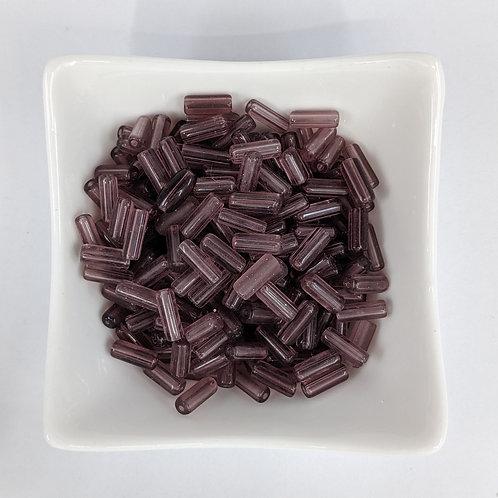 Transparent Purple Tubes - 100pcs