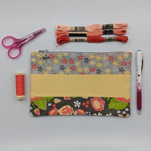 Pencil Case - Grellow Floral