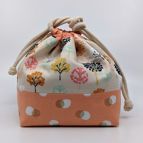Classic Drawstring Pouch - Transformation with Peach