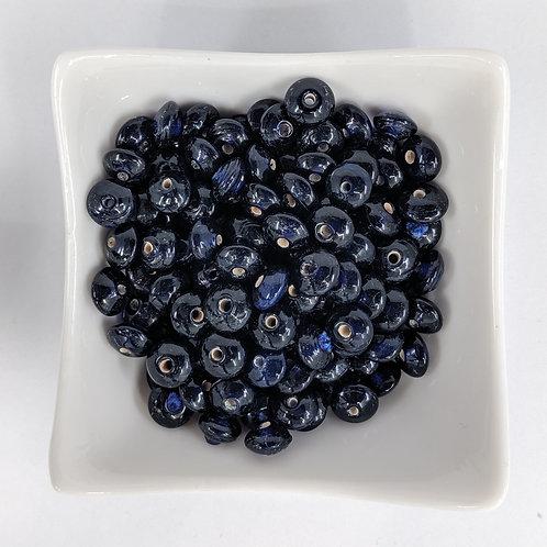 Dark Blue Glass Saucers - 100pcs