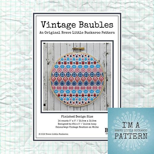 Vintage Baubles DIY PDF Pattern