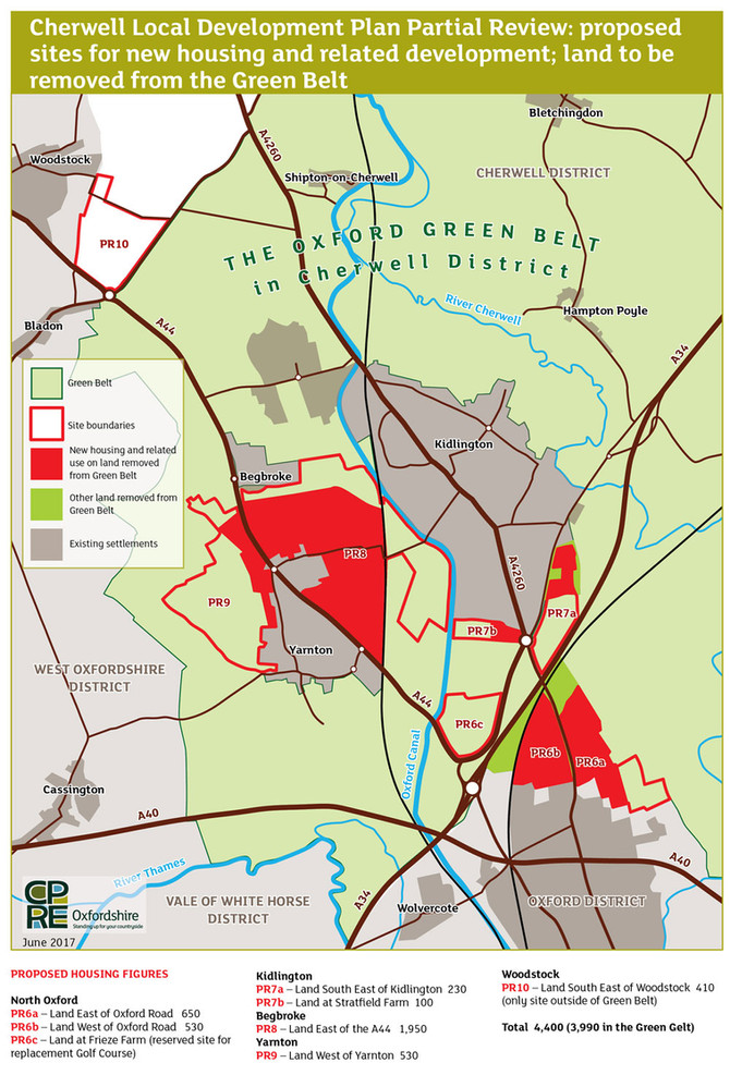 'Cherwell District Council stands Green Belt policy on its head in revised Local Plan' warns CPRE