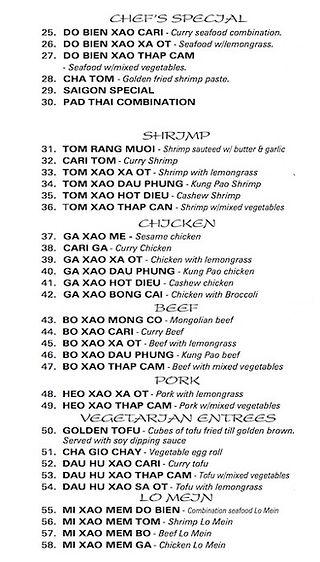 saigon pho grill menu