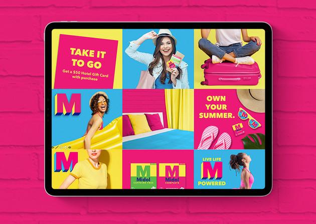 Midol Promo Concept Boards