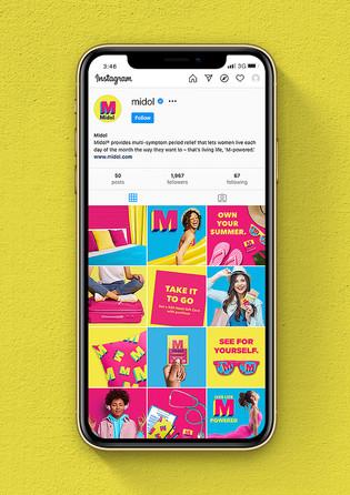 Midol Social Media