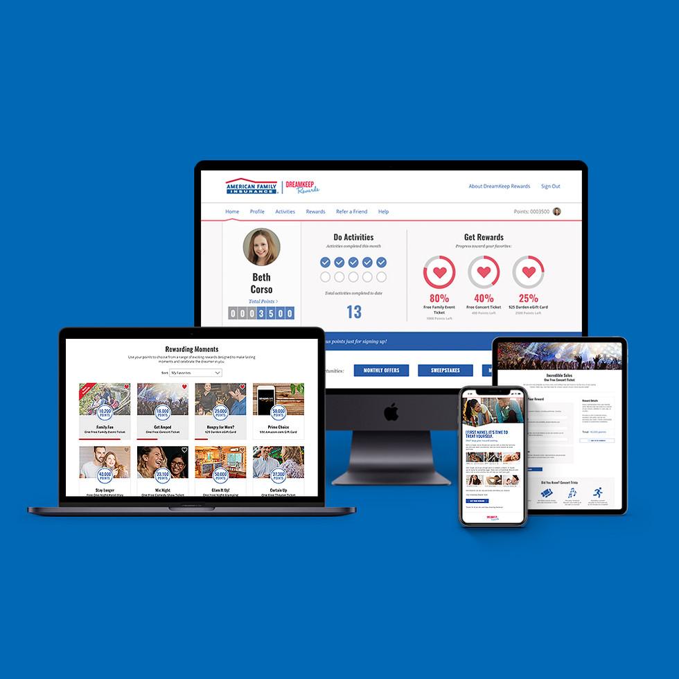 DreamKeep Rewards Website