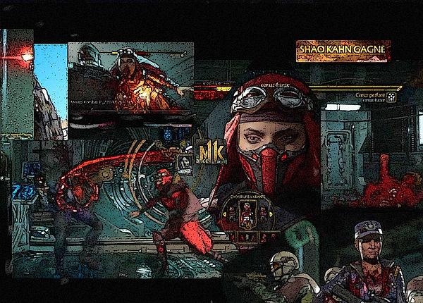 #MKKollective ,photo collage avec skarlet du jeux video mortal kombat et publicité pour la chaine youtube : dabossconiac entertainment.jpg