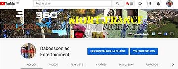 photo de la couverture de la chaine youtube dabossconiac entertainment + lien
