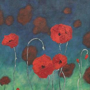 """Poppies - 16x12"""""""