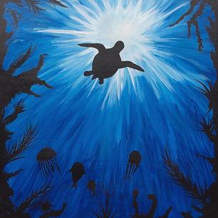 "Sea Turtle - 20x16"""