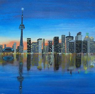 "Toronto Skyline - Original Artwork 12x16"" SOLD"