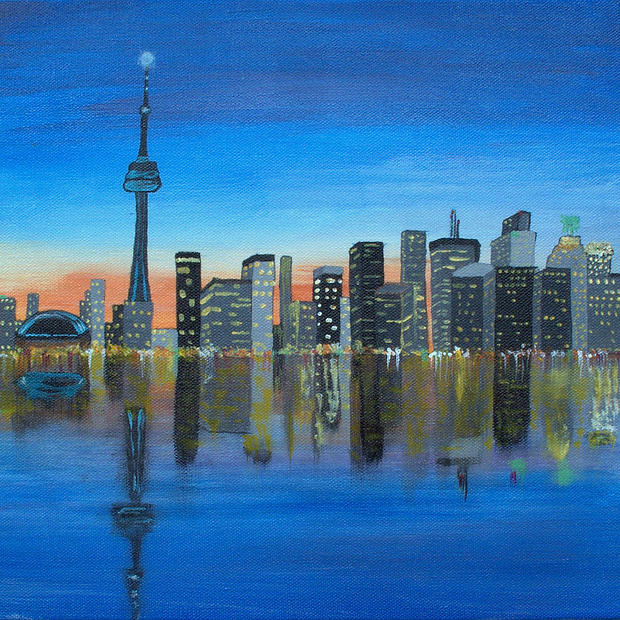 "Toronto Skyline - Original Artwork 12x16"" SOLD"