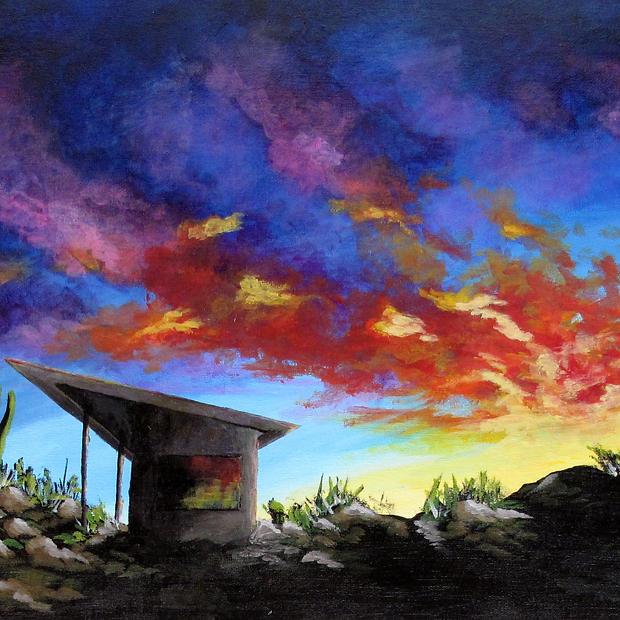 """Desert Sunset - 12x16"""""""