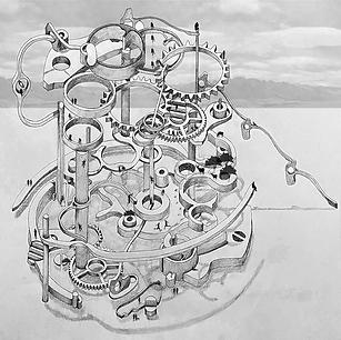 "Clockwise Park - Original Artwork 19x19"" - Print"