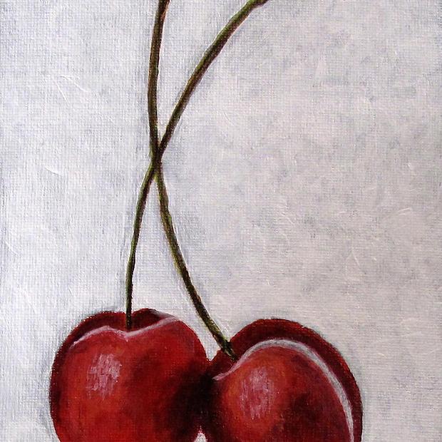 """Cherries - 8x6"""""""