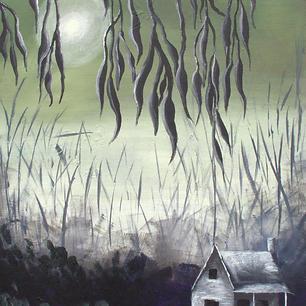 """Autumn Cabin - 16x12"""""""