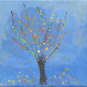 """Fall Tree - Original Artwork 6x6"""""""