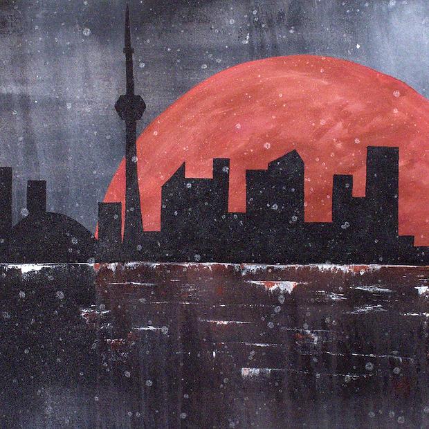 """Toronto Skyline II - 24x36"""""""