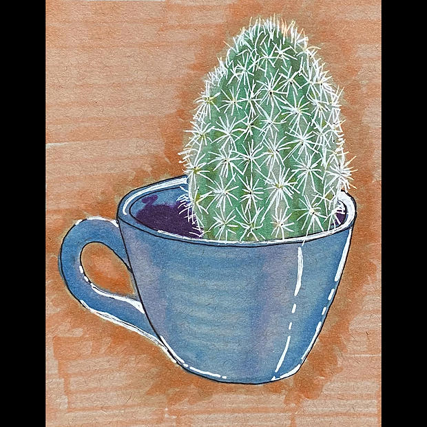 Cactus Coffee - Original Artwork - Print