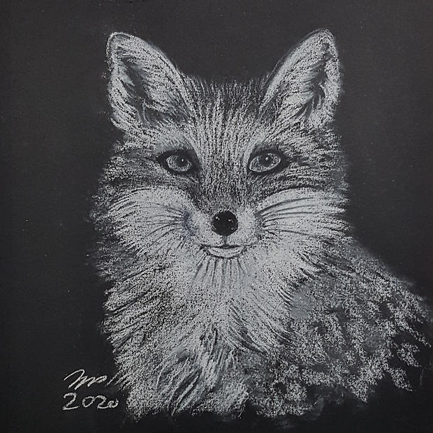 "Fox - Original Artwork 14x11"" - Print"