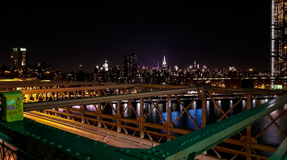 brooklyn bridge new york nowy jork usa manhattan panorama miasta