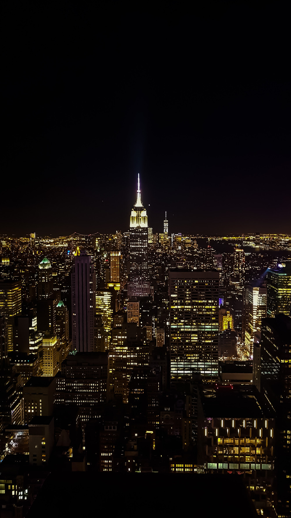 top of the rock new york nowy jork usa manhattan panorama miasta
