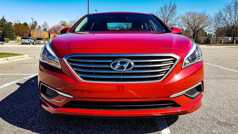 hyundai sonata 2017 scarlet red usa america stany zjednoczone auto samochód