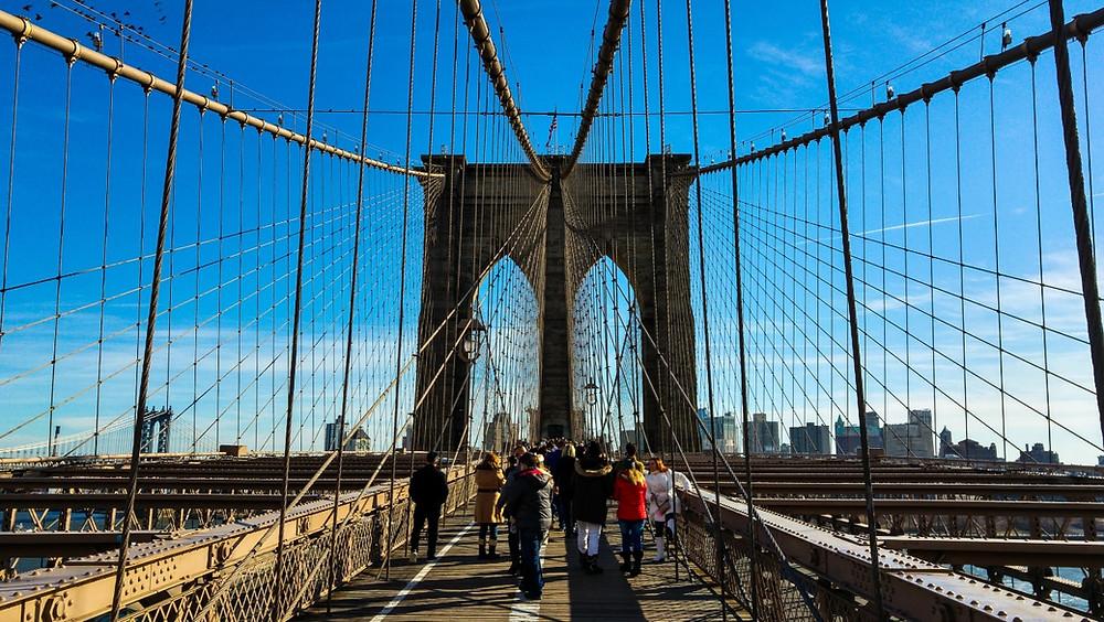 nowy jork brooklyn bridge usa stany zjednoczone ameryka new york nyc