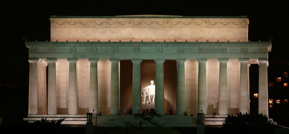 lincoln memorial usa stany zjednoczone ameryka washington dc stolica usa