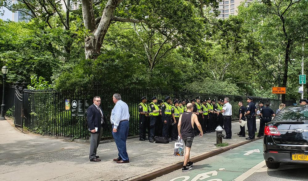 policja w nowym jorku odprawa usa manhattan nyc
