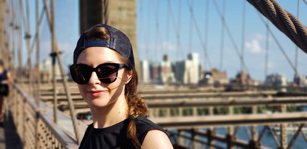 brooklyn bridge panorama nowego jorku usa ameryka