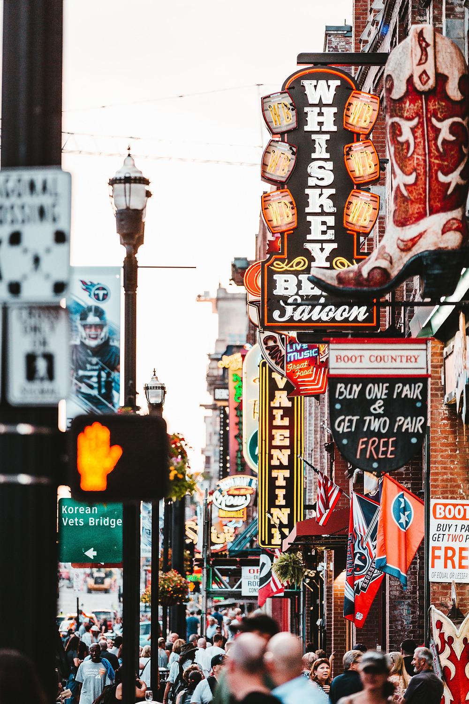 Nashville Tennessee Ameryka USA ulica miasto