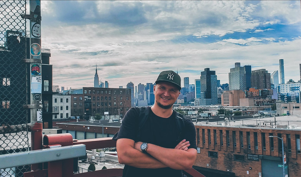 panorama manhattanu nowy jork greenpoint brooklyn