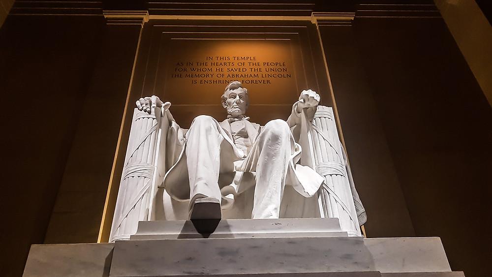 lincoln memorial washington waszyngton usa stany zjednoczone ameryka america zwiedzanie ameryki