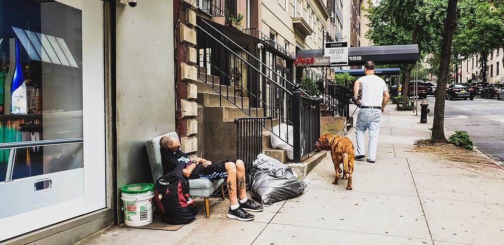 bezdomny manhattan usa nowy jork nyc