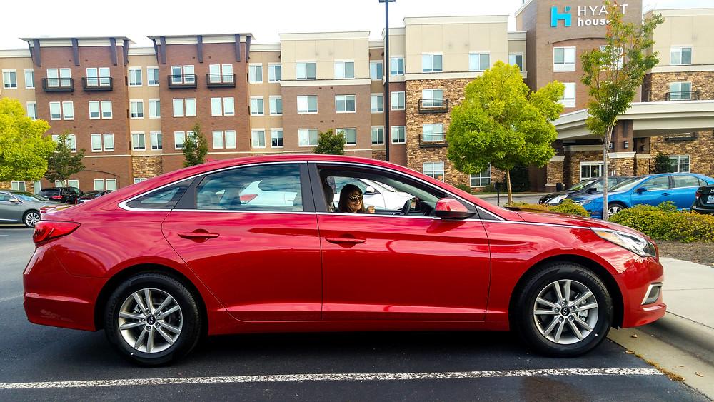 hyundai sonata 2017 red usa ameryka stany zjednoczone samochód w usa