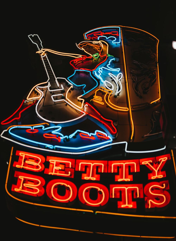 neon banner Nashville Tennessee USA AMeryka