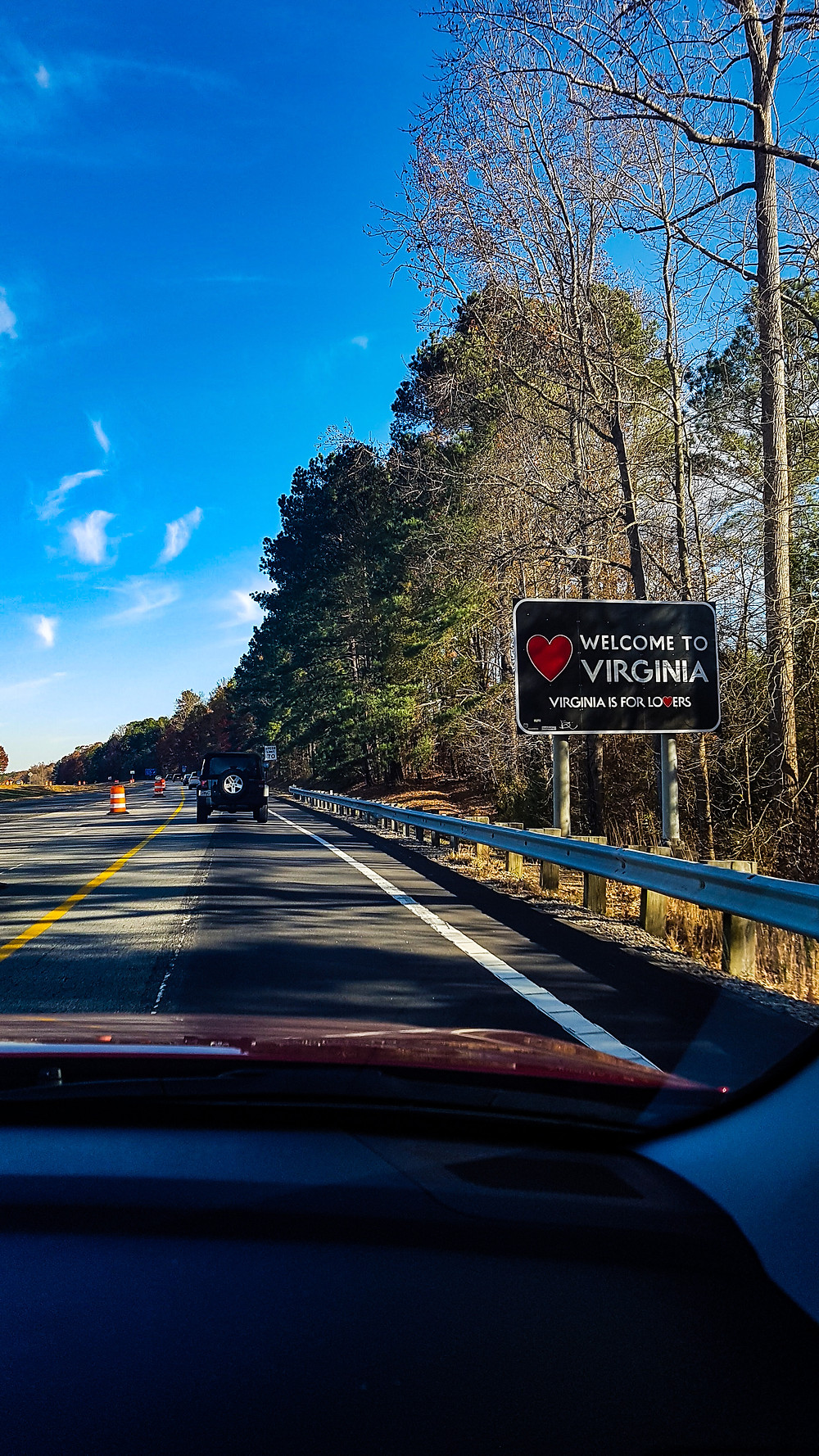 virginia united states stany zjednoczone ameryka road trip state crossing on the road