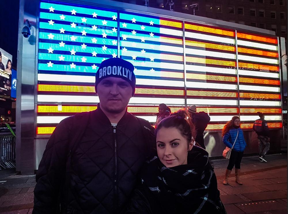 times square new york nowy jork usa manhattan selfie